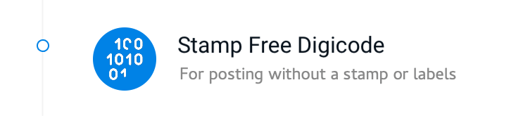 StampFree Digicode.For posting without a stamp or labels